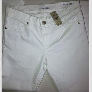Women's Loft Modern straight White Jeans